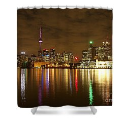 Bright Lights Big City Shower Curtain by Lingfai Leung