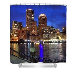 Bright Lights Boston Shower Curtain by Joann Vitali