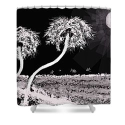 Bright Night In The Tropics Shower Curtain