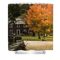 Shower Curtain featuring the photograph Bright Orange Autumn by Jeff Folger