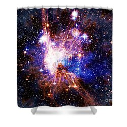 Bright Side Of The Black Hole Shower Curtain by Elizabeth McTaggart