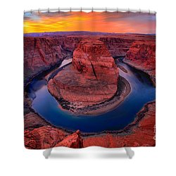 Bright Skies Over Horseshoe Shower Curtain