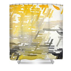 Bright Slashes Shower Curtain