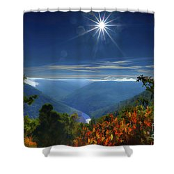 Bright Sun In Morning Cheat River Gorge Shower Curtain