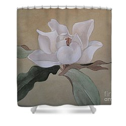 Shower Curtain featuring the painting Bright White by Nancy Kane Chapman