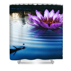 Brighter Than Stars Shower Curtain by Mo T