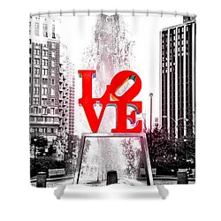 Brightest Love Shower Curtain by Bill Cannon
