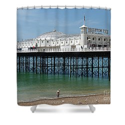 Shower Curtain featuring the photograph Brighton Pier - Sussex By The Sea by Phil Banks