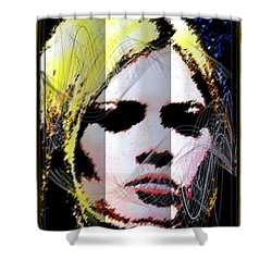 Shower Curtain featuring the digital art Brigitte Bardot by Daniel Janda