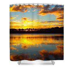 Shower Curtain featuring the photograph Brilliant Sunrise by Dianne Cowen