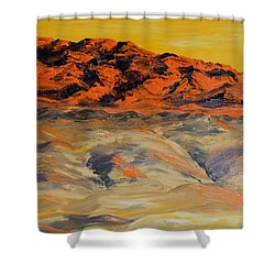 Brilliant Montana Mountains And Foothills Shower Curtain