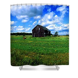 Brimley Farm Near  Sault Ste Marie Michigan  Shower Curtain
