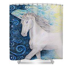 Bringer Of The Dawn Shower Curtain by Beth Clark-McDonal