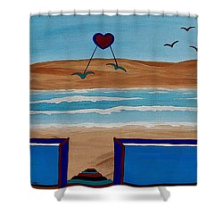 Bringing The Heart Home Shower Curtain by Barbara St Jean