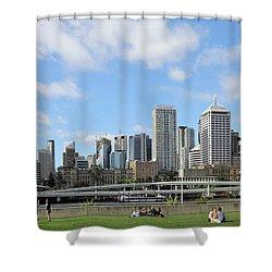 Brisbane City Shower Curtain