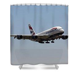 British Airways A380 Shower Curtain