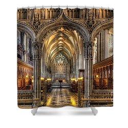 British Church Shower Curtain by Adrian Evans
