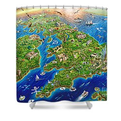 British Isles Shower Curtain