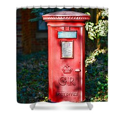 British Mail Box Shower Curtain by Paul Ward