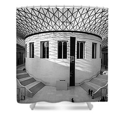 Shower Curtain featuring the photograph British Museum Black And White by Matt Malloy