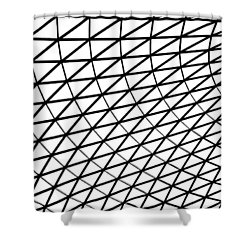 Shower Curtain featuring the photograph British Museum Geometry by Rona Black