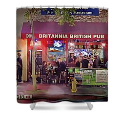 British Pub Shower Curtain by Chuck Staley