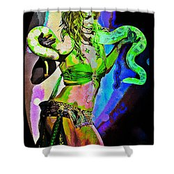 Britney Neon Dancer Shower Curtain by Absinthe Art By Michelle LeAnn Scott