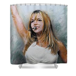 Britney Spears Shower Curtain by Viola El