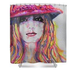 Britney Spears Shower Curtain by Chrisann Ellis