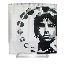 Britpop Shower Curtain by ID Goodall