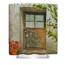 Brittany  Door Shower Curtain by Mary Ellen Mueller Legault