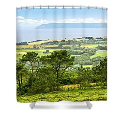 Brittany Landscape With Ocean View Shower Curtain by Elena Elisseeva