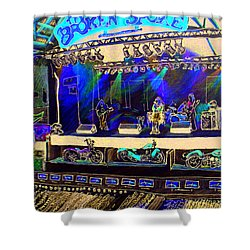 Broadband At The Broken Spoke Saloon Shower Curtain by Albert Puskaric