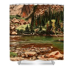 Broadwater Pond Shower Curtain