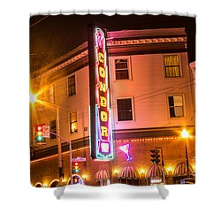Shower Curtain featuring the photograph Broadway At Night by Suzanne Luft