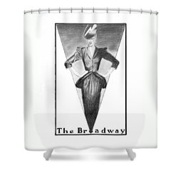 Broadway Dame Shower Curtain by Sarah Parks