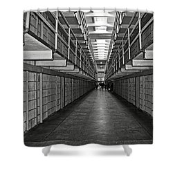 Broadway Walkway In Alcatraz Prison Shower Curtain