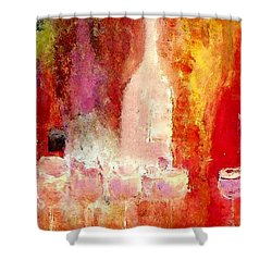 Broadway Wine Chorus  Shower Curtain by Lisa Kaiser