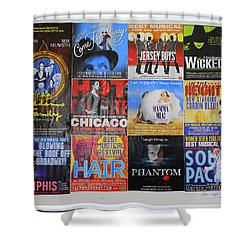 Broadway's Favorites Shower Curtain