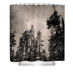 Brocade Sky Shower Curtain by Juli Ellen