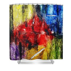 Shower Curtain featuring the painting Broken 4 by Michael Cross