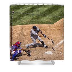 Broken Bat Shower Curtain