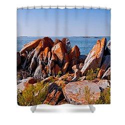 Broken Boulders Shower Curtain by Les Palenik