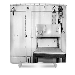 Broken Chair Shower Curtain by Carsten Reisinger