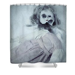 Broken Doll Shower Curtain by Joana Kruse