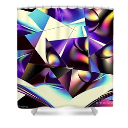 Broken Glass Shower Curtain by Greg Moores