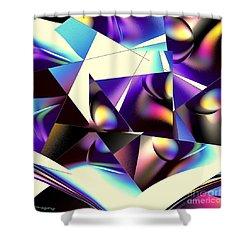 Broken Glass Shower Curtain