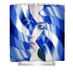 Broken Mirror Broken Dreams Shower Curtain