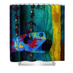 Broken Music Shower Curtain by RC deWinter
