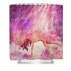Broken Shower Curtain by Rachel Christine Nowicki